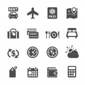 Travel and vacation icon set 6, vector eps10 — Vector de stock