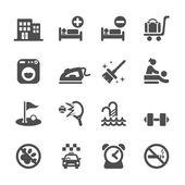 Hotel service icon set 6, vector eps10 — Stock Vector