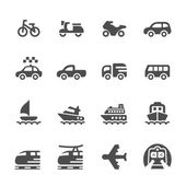 Transportation and vehicles icon set 3, vector eps 10 — Stock Vector