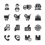 Shopping icon set, vector eps10 — Stock Vector