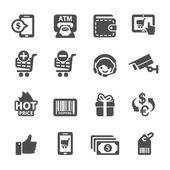 Shopping icon set 3, vector eps10 — Stock Vector