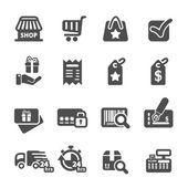 Shopping icon set 6, vector eps10 — Stock Vector