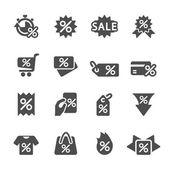 Label pictogrammenset korting, vector eps10 — Stockvector