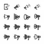 Conjunto de ícones de design diferente megafone, vector eps10 — Vetor de Stock