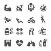 健康和健身图标设置、 矢量 eps10 — 图库矢量图片