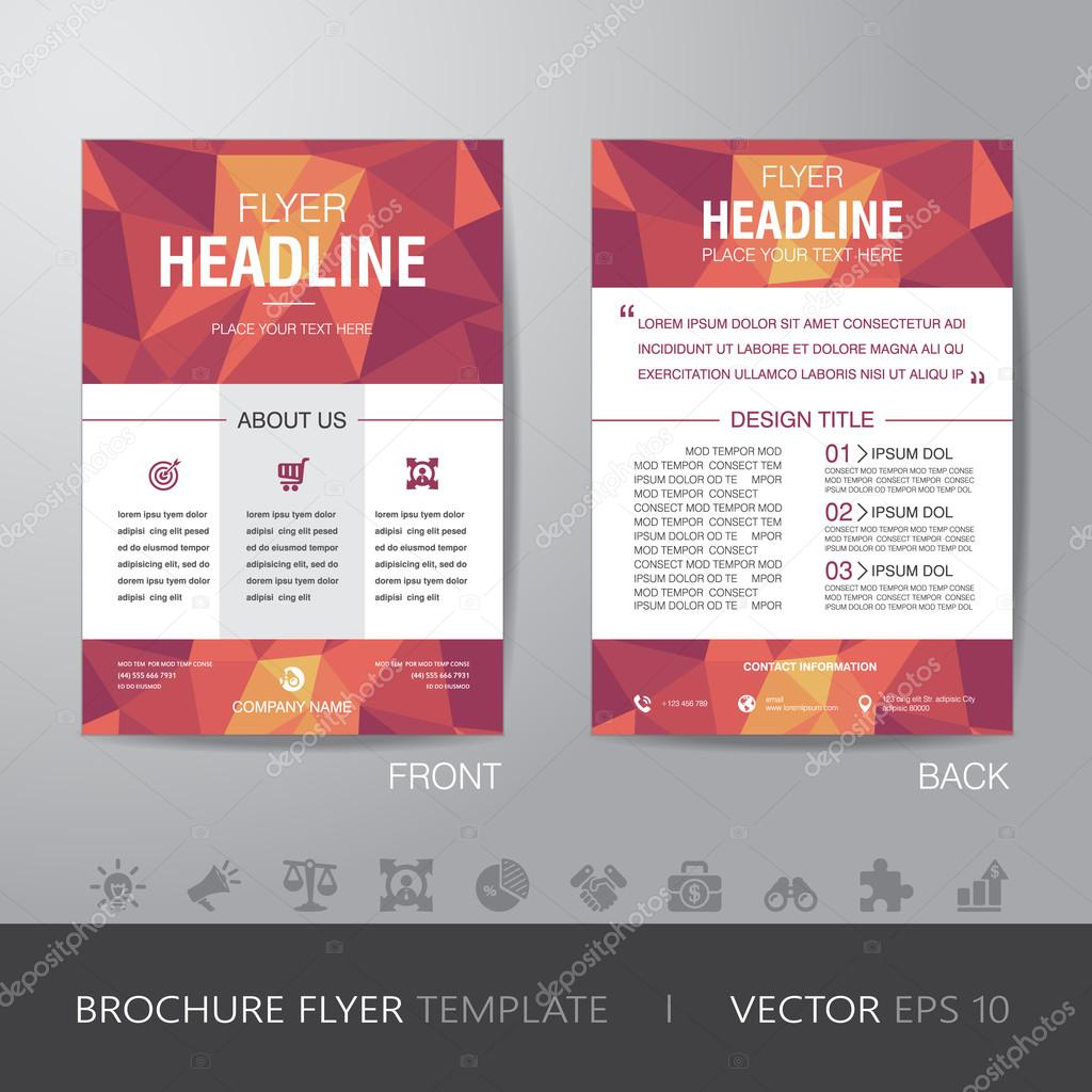 polygon brochure flyer design layout template in a size b polygon brochure flyer design layout template in a4 size b stock vector