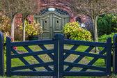 Puerta de jardín — Foto de Stock