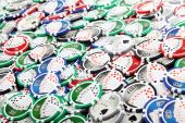 Casino poker chips — Stock Photo