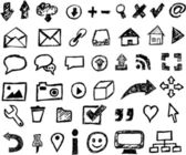 Web design icons - hand drawn — Stock Vector