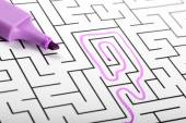 Trying to find way out of maze — Stock Photo