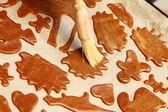 Baking gingerbread — Stock Photo