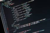 Website development - programming code on computer screen — Stock Photo