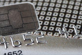 Macro shot with credit card — Stock Photo