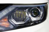 Closeup of car headlight — Stock Photo
