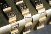 Macro shot of padlock combination numbers — Stock Photo