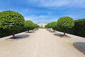 View from park to the Rundale palace — Stock Photo