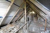 Interior of old messy attic — Stock Photo