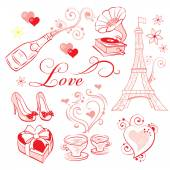 Valentines Day Romance — Cтоковый вектор