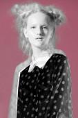Fashion model pose on color background — Stok fotoğraf