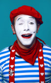 Mime in sailor suit — Stock Photo