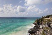 Beautiful beach in Tulum — Stock Photo