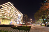 The Kaohsiung Main Public Library at night. — Stock Photo