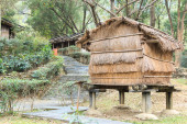 Aboriginal Taiwanese home at the Taiwan Indigenous People Cultural Park in Pintung county, Taiwan — Stock Photo