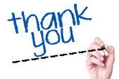'thank you' on glass — Fotografia Stock