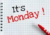 Jego poniedziałek — Zdjęcie stockowe