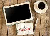 It's Sunday — Stock Photo