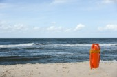 Red buoy for a lifeguard — Stock Photo