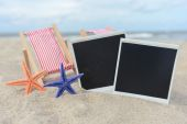 Starfishes and picture — Foto de Stock