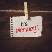 Its Monday — Stock Photo