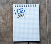 2015 year sign and July month symbol — Stock Photo