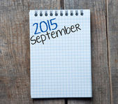 2015 year sign and September month symbol — Photo