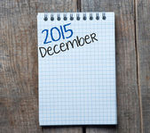 2015 year sign and December month symbol — Stock Photo