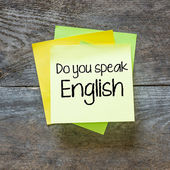 Text do you speak English — Photo