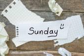 Sunday planning — Stock Photo