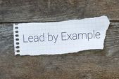The phrase Lead By Example — Stock Photo