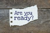 Are you ready written on the paper — Stock Photo