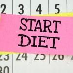 The phrase Start Diet written on sticky paper note — Stock Photo #53358965