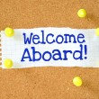 The phrase Welcome Aboard! — Stock Photo #53438795