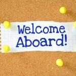 Постер, плакат: The phrase Welcome Aboard