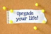 The phrase Upgrade Your Life typed on a piece of paper — Stock Photo