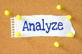 Analyze handwritten on torn paper — Stock Photo