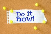 Don it now typed onto a scrap of lined paper — Stock Photo