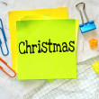 Text Christmas on the short note — Stock Photo #53480495