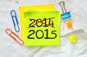 Nota 2014-2015 — Foto de Stock