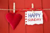 Happy Sunday on instant paper — Stock Photo