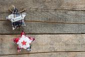 Noel ahşap arka plan — Stok fotoğraf